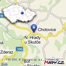 mapa Nové Hrady